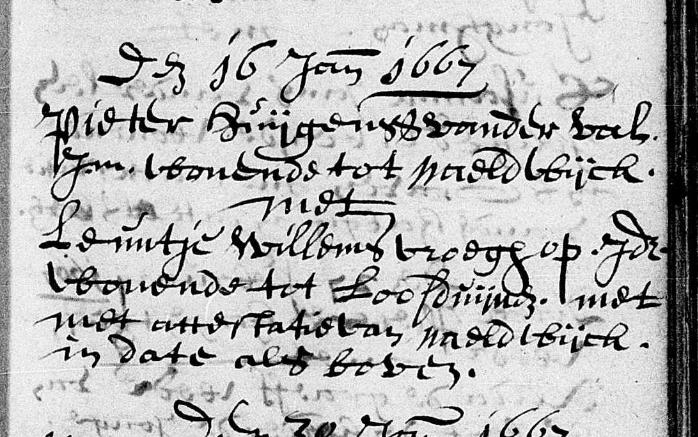Huwelijk Pieter Huijgensz van der Val en Leuntje Willems Vroegop